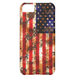 Weathered Rusty American Flag iPhone 5C Cases