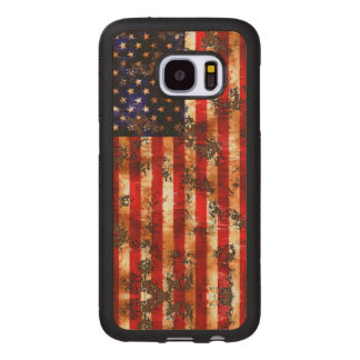 Weathered Rusty American Vertical Flag Wood Samsung Galaxy S7 Case