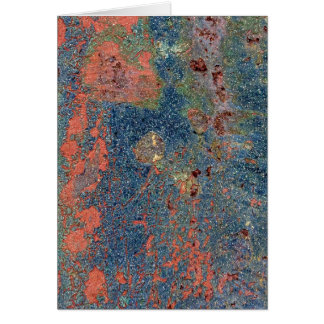 Weathered Rusty Metal Texture Card