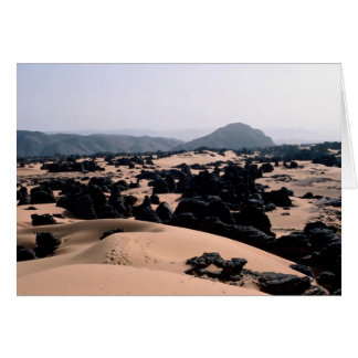 Weathered sandstone rock and sand, Algeria Desert Card