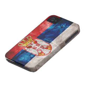 Weathered Serbia Flag iPhone 4 Case-Mate Cases