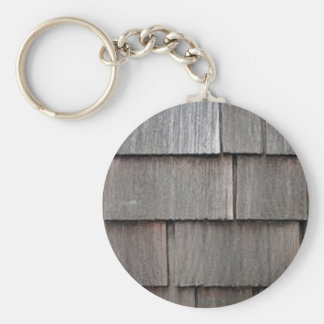 Weathered Shingles Basic Round Button Keychain