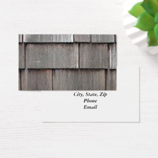 Weathered Shingles Business Card