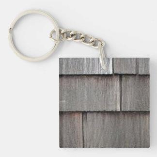 Weathered Shingles Double-Sided Square Acrylic Keychain