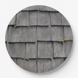 WEATHERED SHINGLES PAPER PLATE