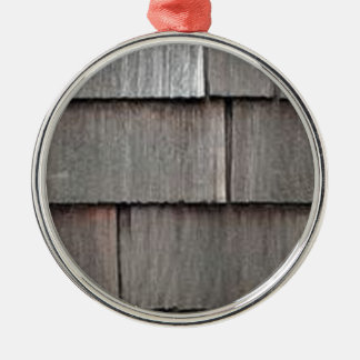 Weathered Shingles Silver-Colored Round Ornament