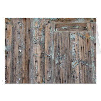 Weathered Shutter Greeting Card