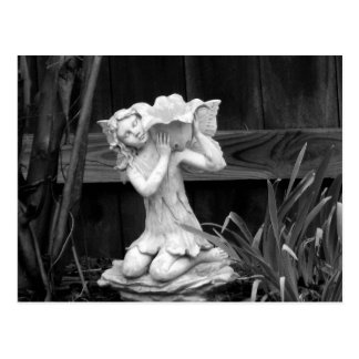 Weathered  Statue Postcard