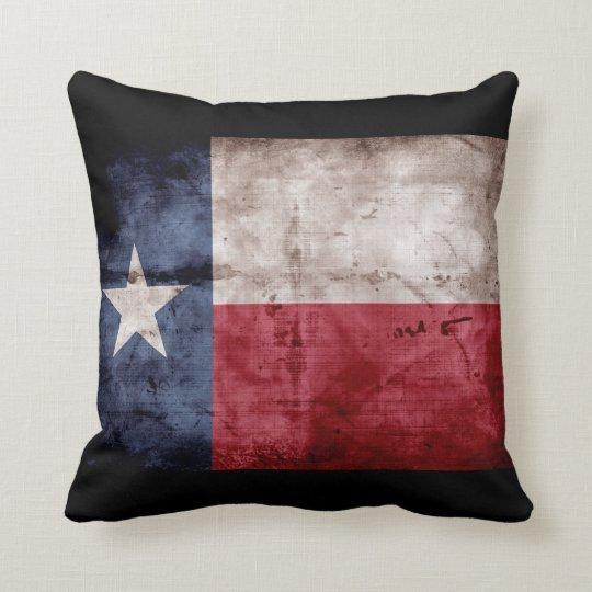 Weathered Texas Flag; Throw Pillow