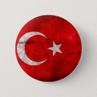 Weathered Turkey Flag 2 Inch Round Button