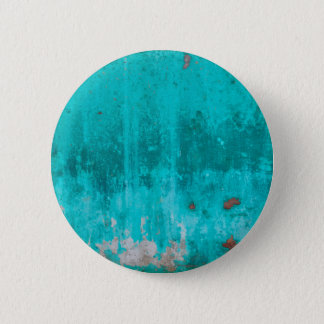 Weathered turquoise concrete wall texture 2 inch round button