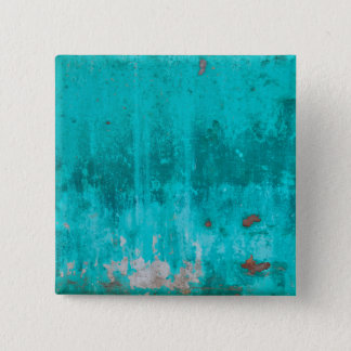 Weathered turquoise concrete wall texture 2 inch square button
