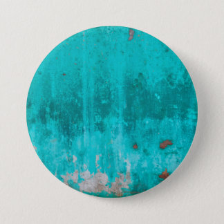 Weathered turquoise concrete wall texture 3 inch round button