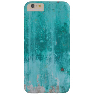 Weathered turquoise concrete wall texture barely there iPhone 6 plus case
