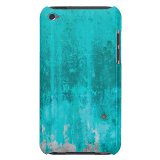 Weathered turquoise concrete wall texture barely there iPod case