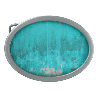Weathered turquoise concrete wall texture belt buckles