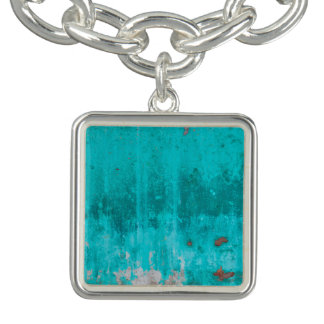 Weathered turquoise concrete wall texture bracelet