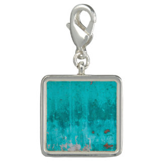 Weathered turquoise concrete wall texture charms