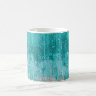 Weathered turquoise concrete wall texture coffee mug