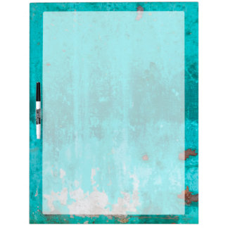 Weathered turquoise concrete wall texture dry erase board