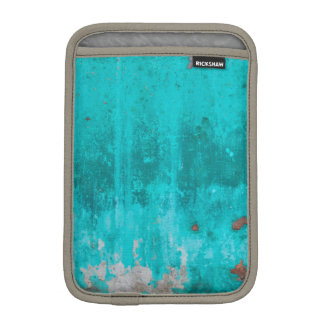 Weathered turquoise concrete wall texture iPad mini sleeve