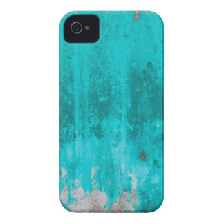 Weathered turquoise concrete wall texture iPhone 4 covers