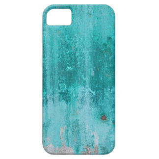 Weathered turquoise concrete wall texture iPhone 5 cases
