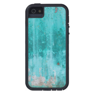 Weathered turquoise concrete wall texture iPhone 5 covers