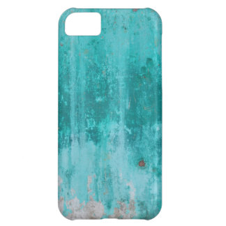 Weathered turquoise concrete wall texture iPhone 5C cover