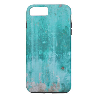 Weathered turquoise concrete wall texture iPhone 8 plus/7 plus case