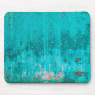 Weathered turquoise concrete wall texture mouse pad
