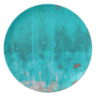 Weathered turquoise concrete wall texture plate