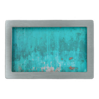Weathered turquoise concrete wall texture rectangular belt buckles