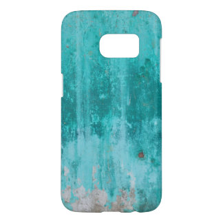 Weathered turquoise concrete wall texture samsung galaxy s7 case