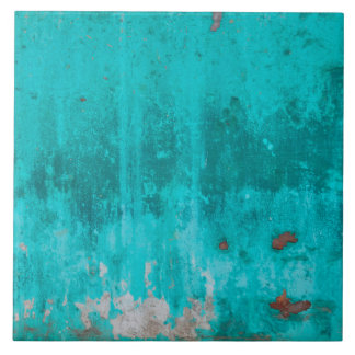 Weathered turquoise concrete wall texture tile