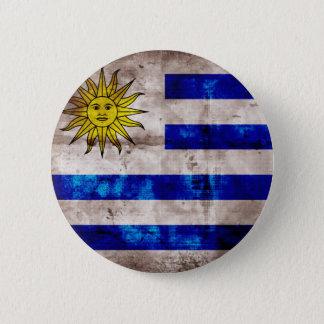Weathered Uruguay Flag 2 Inch Round Button