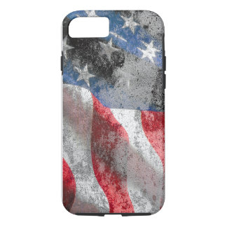 Weathered US Flag iPhone 7 Case