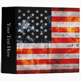 Weathered Vintage American Flag Binder