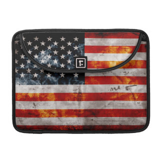 Weathered Vintage American Flag Sleeve For MacBooks