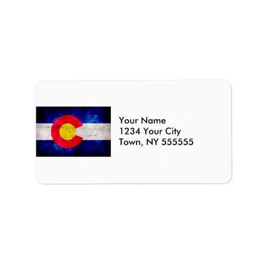 Weathered Vintage Colorado State Flag Label