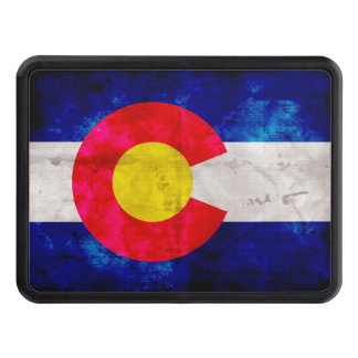 Weathered Vintage Colorado State Flag Tow Hitch Cover