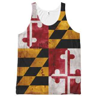 Weathered Vintage Maryland State Flag