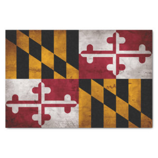 Weathered Vintage Maryland State Flag Tissue Paper