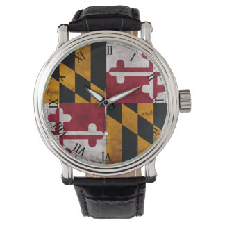 Weathered Vintage Maryland State Flag Watches