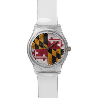 Weathered Vintage Maryland State Flag Wrist Watches
