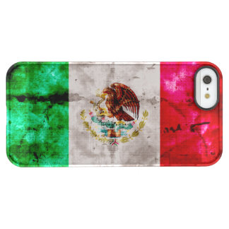 Weathered Vintage Mexico Flag Permafrost® iPhone SE/5/5s Case
