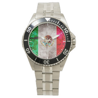 Weathered Vintage Mexico Flag Watch