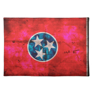 Weathered Vintage Tennessee State Flag Place Mats