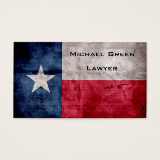 Weathered Vintage Texas State Flag Business Card
