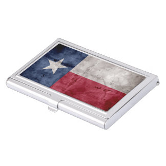 Weathered Vintage Texas State Flag Business Card Cases